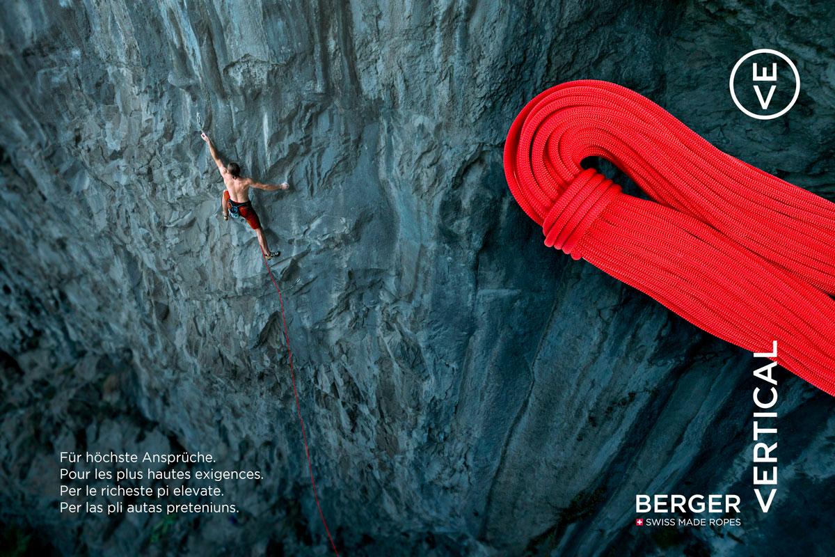 Kletterseil Berger Vertical | Seilerei Berger | Branding